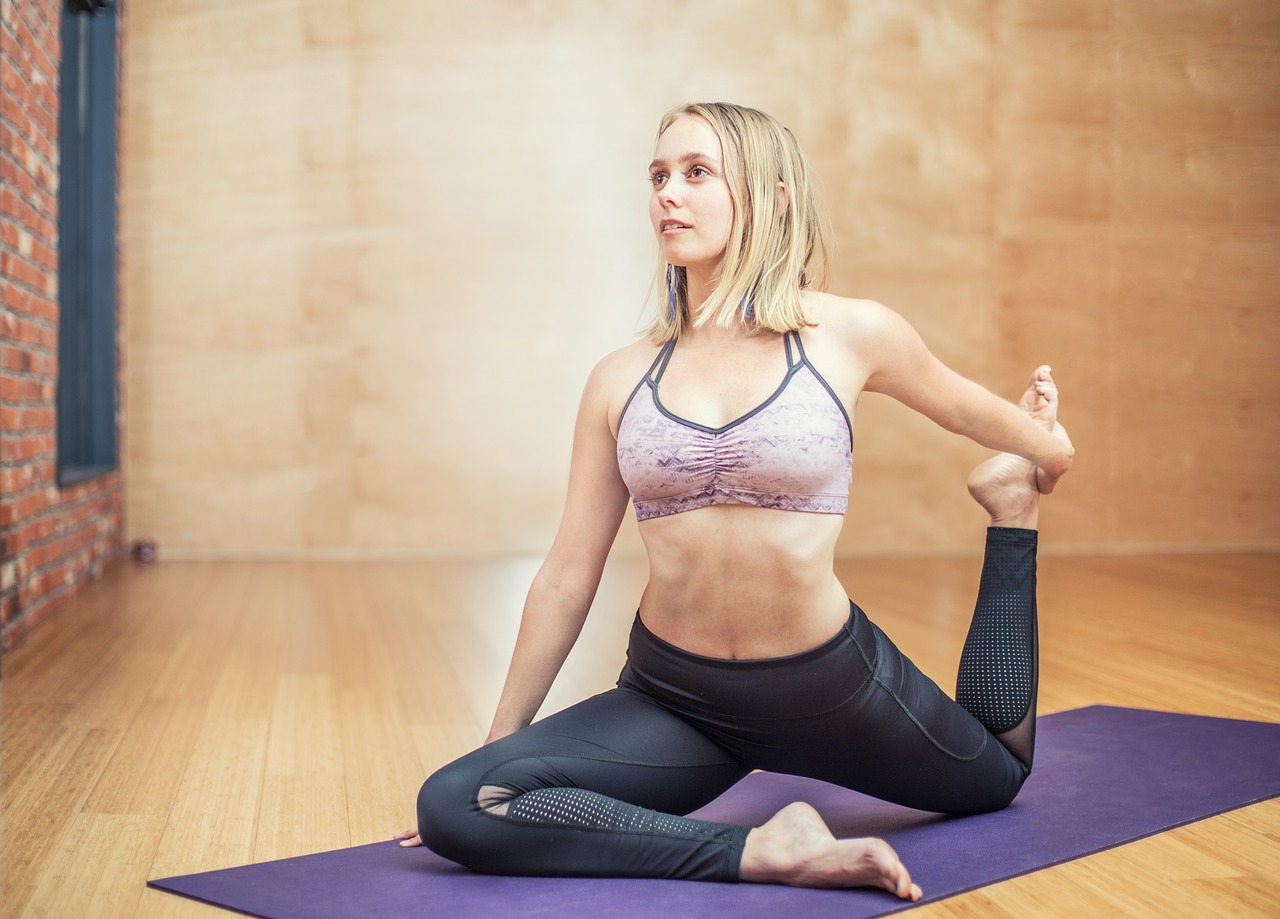 Yoga fitness exercise for healthy body